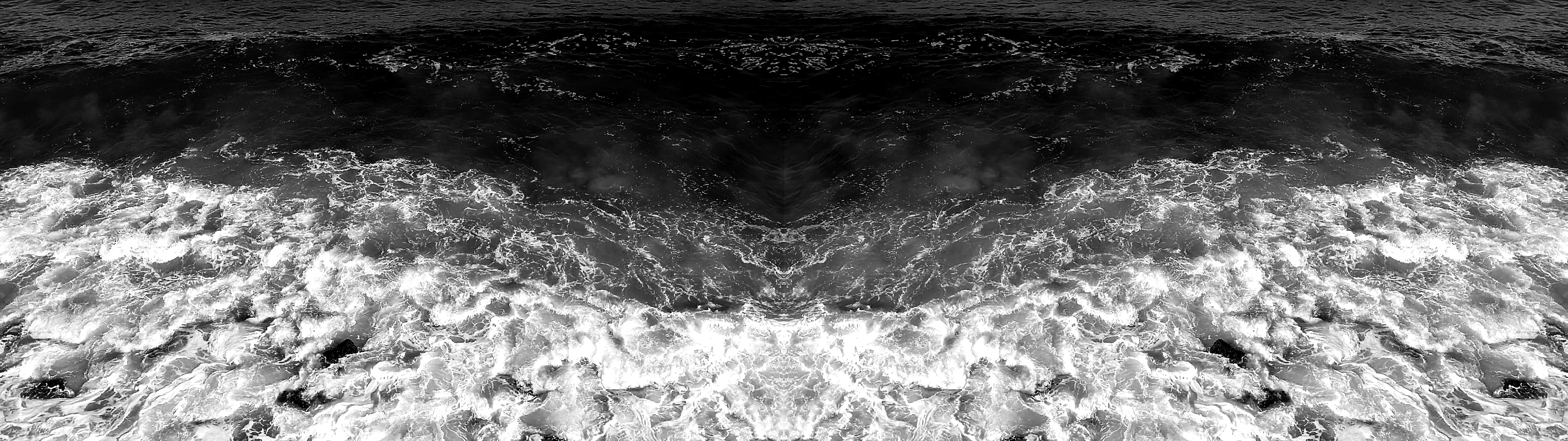 Across Dark Waters, 2019, 6.52 mins, two-channel video projection with sound